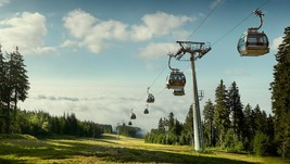 Cable car and scooter rental open daily