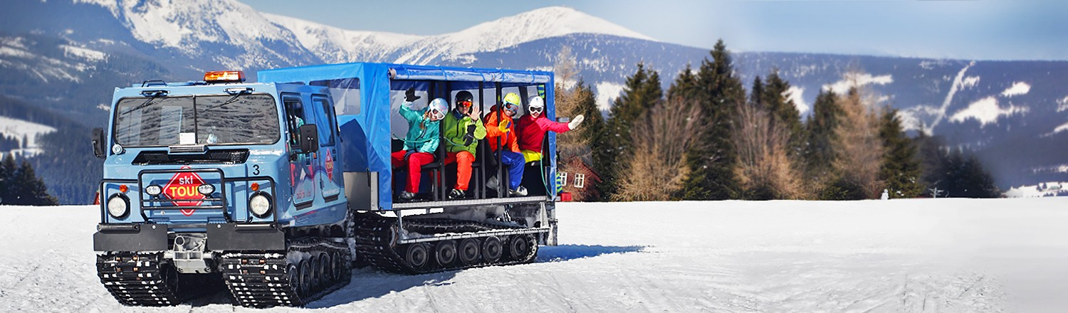 SkiTour - on skis and with a snowcat between ski areas