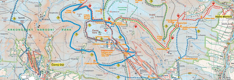 Běžecké tratě SkiResort Černá hora - Pec